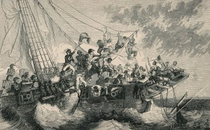 """Black Sailors - """"Negro Sailors in the War of 1812,"""" from Joseph T. Wilson, The Black Phalanx: A History of the Negro Soldiers of the United States in the War of 1775-1812, 1861-'65, 1888. Albert and Shirley Small Special Collections Library, University of Virginia."""
